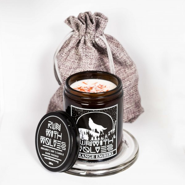 Natural soy wax candle - Orange Embers - 180 ml