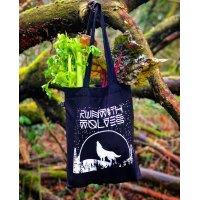 Run with Wolves vászontáska organikus pamut