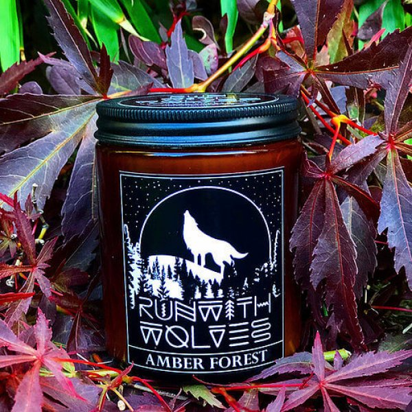Natural soy wax candle - Amber Forest - 180 ml