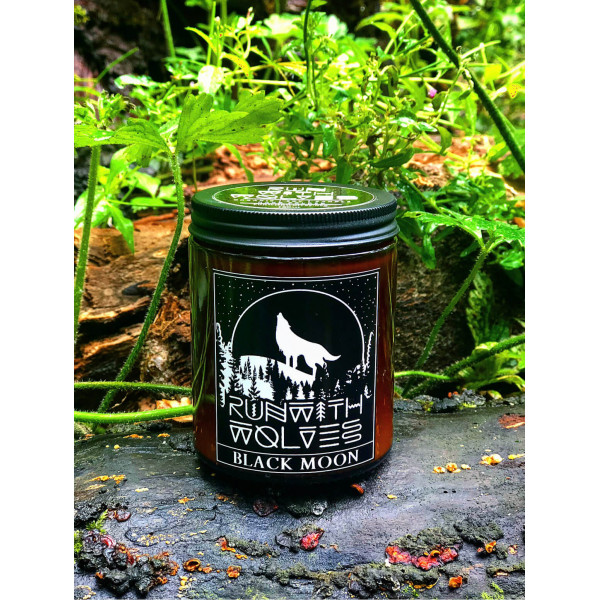 Natural soy wax candle - Black Moon- 180 ml