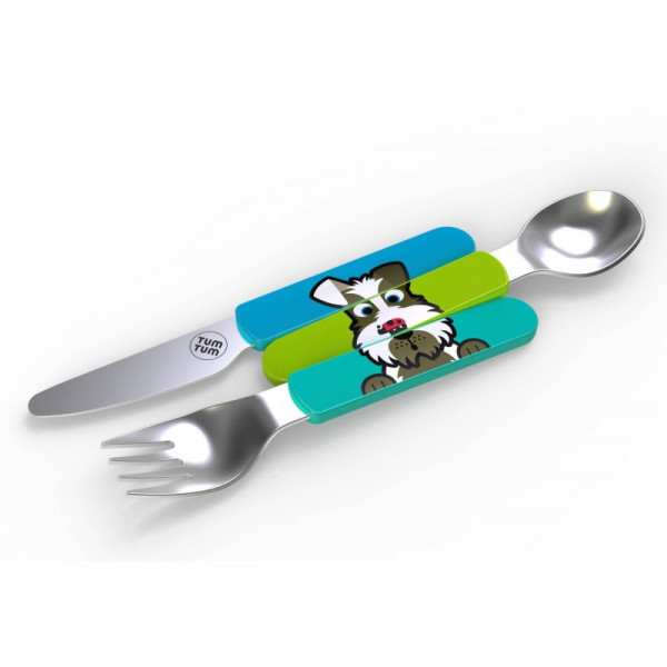Easy Scoop Toddler Cutlery with Travel Case, Scruf...