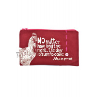 Red The Day is Sure to Come African Proverb Pouch