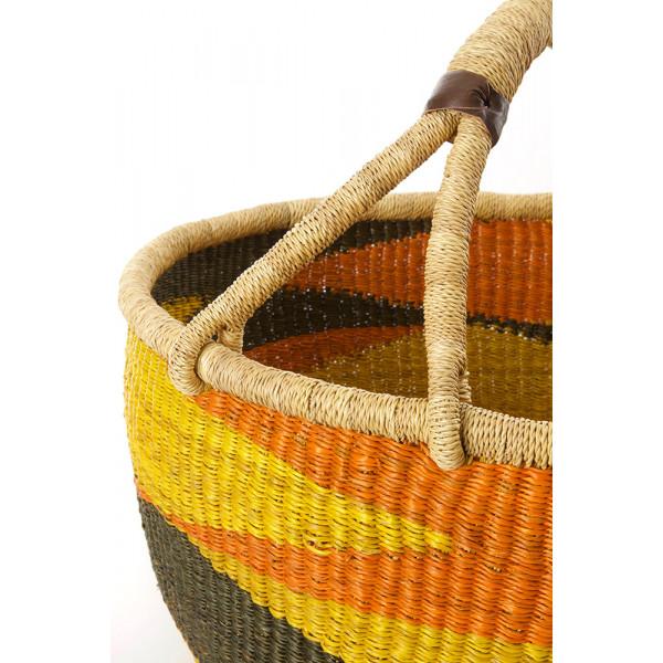 Handmade Bolga Basket - sandstone
