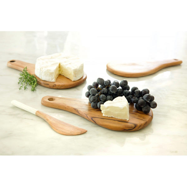 Olive Wood Round Fromage tray
