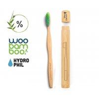 Bambusz fogkefe felnőtteknek tokkal