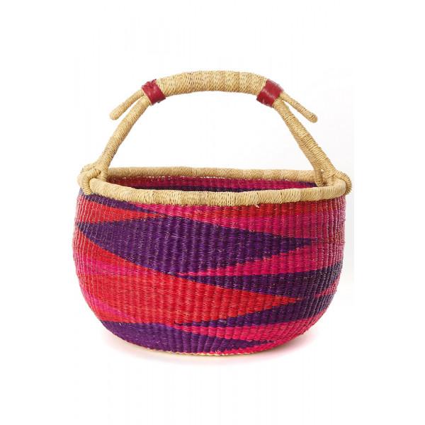 Handmade Bolga Basket - Bougainvillea
