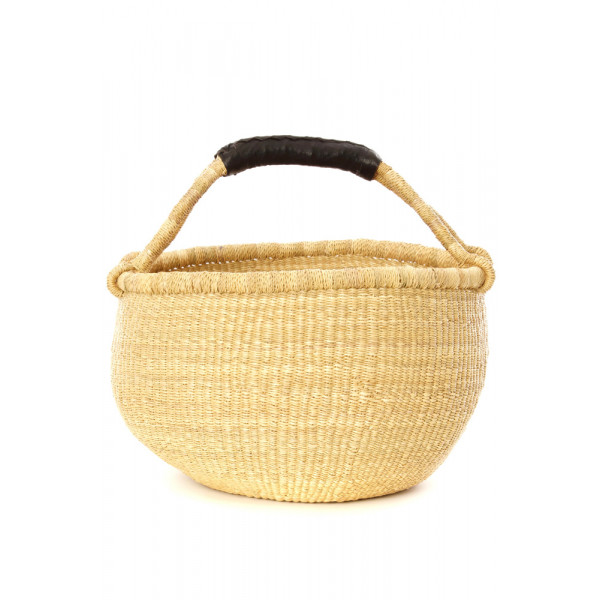 Handmade Bolga Basket - Natural
