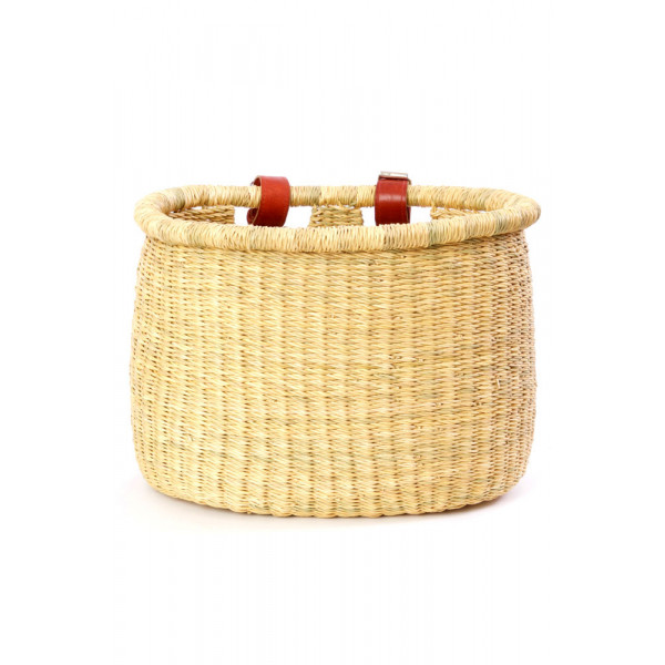 Natural Elephant Grass Bicycle Basket