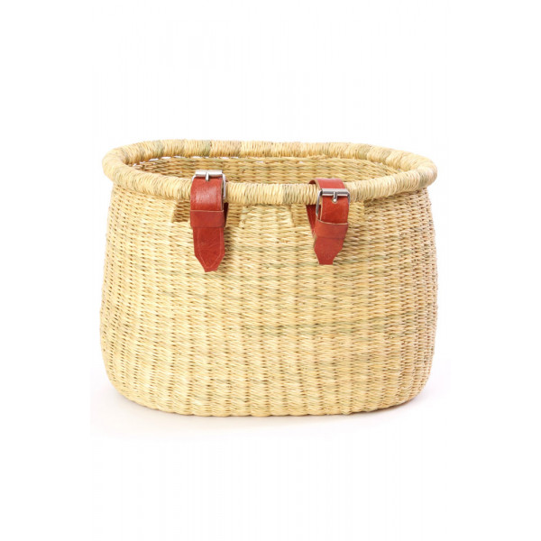 Natural Elephant Grass Bicycle Basket