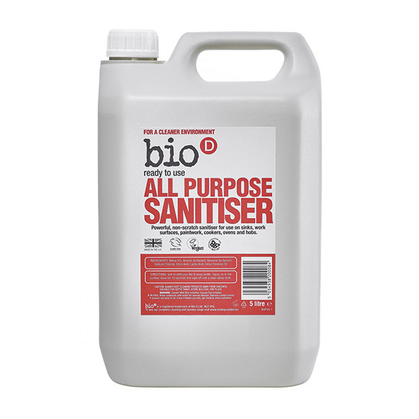 BIO-D ALL PURPOSE SANITISER BULK REFILL – 5L
