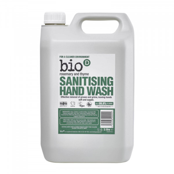 Bio-D Sanitising Hand Wash, Rosemary and Thyme 5l