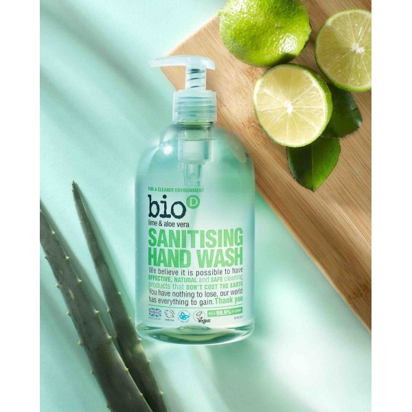 Bio-D Sanitising Hand Wash, Lime and Aloe Vera 0.5l