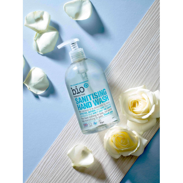 Bio-D Sanitising Hand Wash Fragrance Free 500ml
