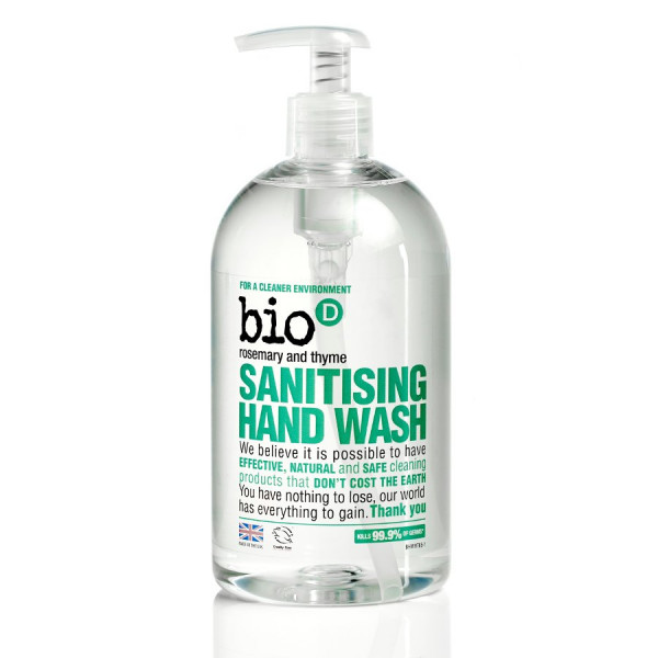 Bio-D Sanitising Hand Wash, Rosemary and Thyme 0.5...