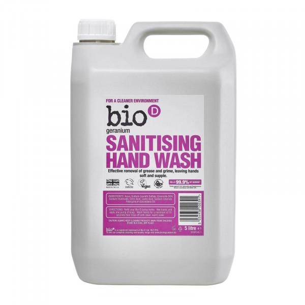Bio-D Sanitising Hand Wash, Geranium 5l