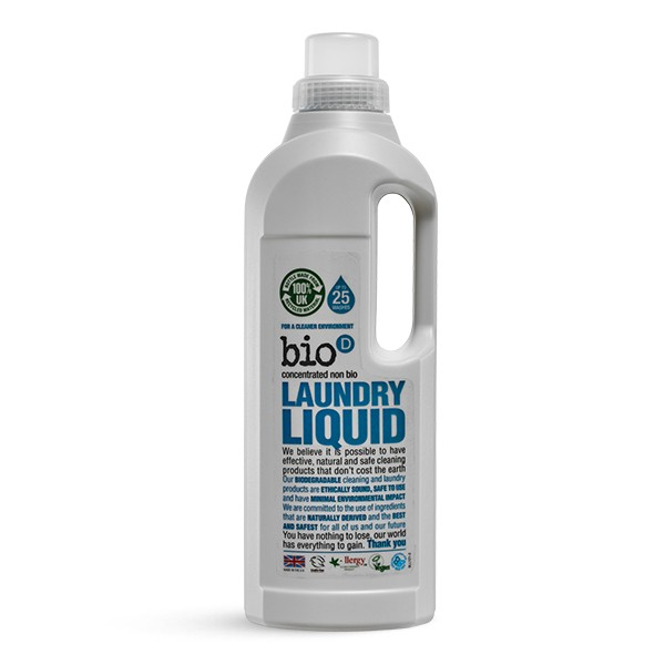 Bio-D Eco-friendly Laundry Liquid - No Residue Odour 1l