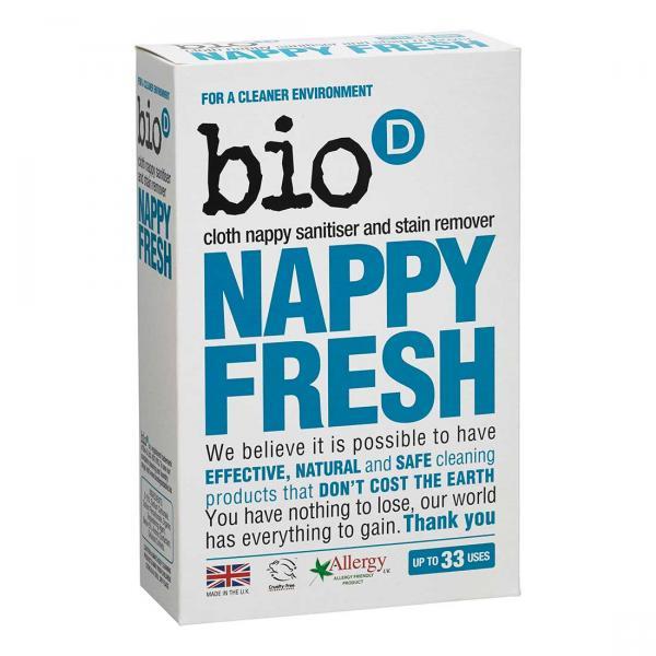 Bio-D Nappy Fresh pelenka fertőtlenítő és folttisztító mosószer 0,5kg