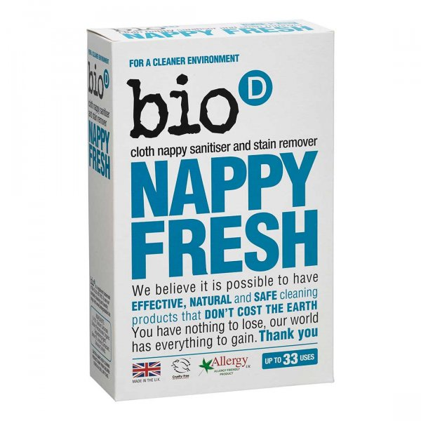 Bio-D Nappy Fresh cloth nappy sanitiser and stain remover washing powder 0.5kg