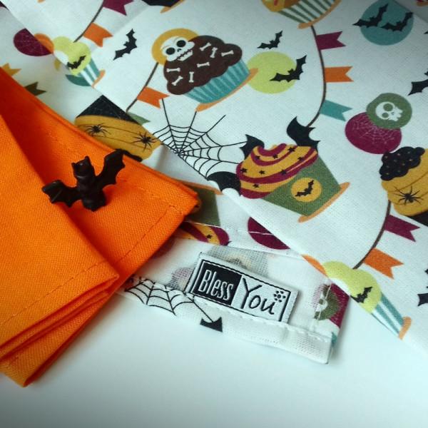 Handkerchiefs Halloween Bless you, size S, 3 pcs