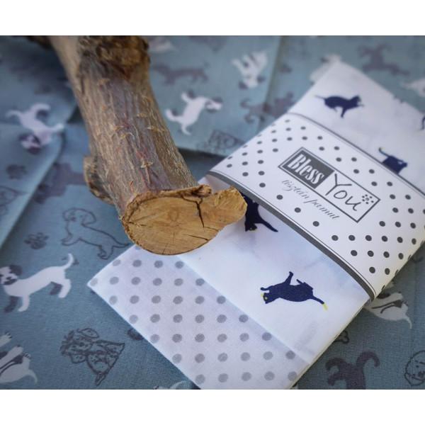 Handkerchiefs little pets Bless you, size S, 3 pcs...