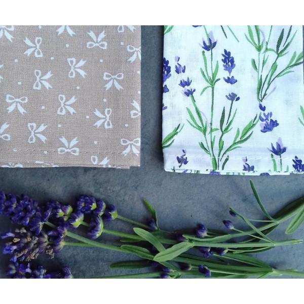 Handkerchiefs levander Bless you, size S, 3 pcs