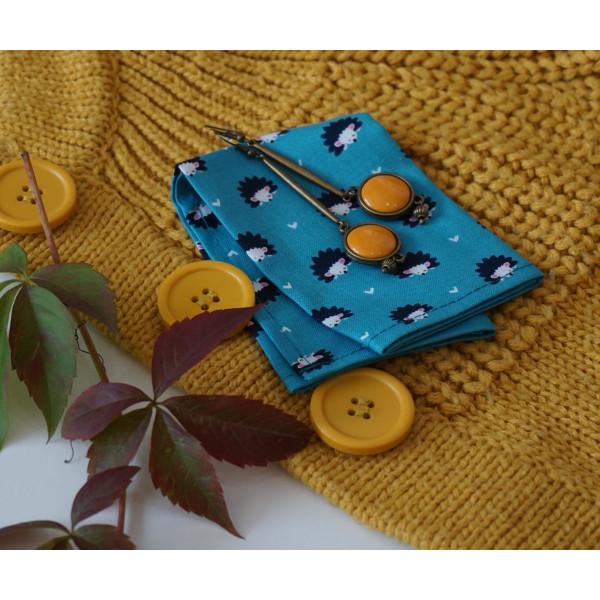 Handkerchiefs hedgehog Bless you, size S, 3 pcs