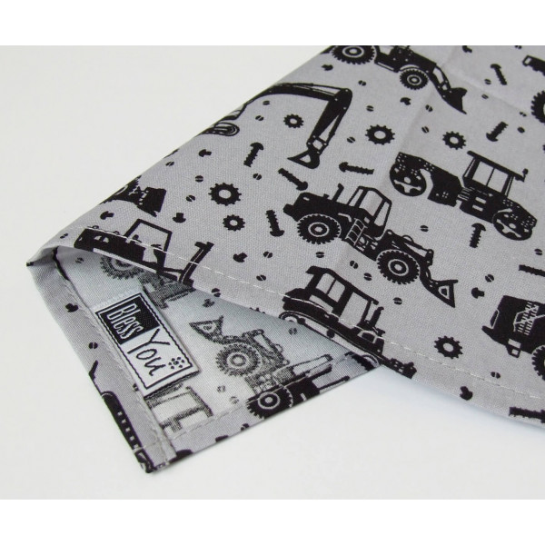 Handkerchiefs excavator and caterpillars Bless you, size S, 3 pcs