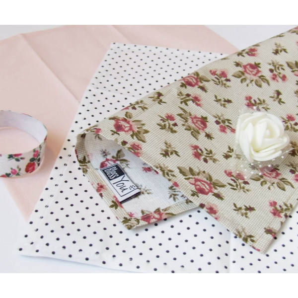 Handkerchiefs little roses Bless you, size S, 3 pc...