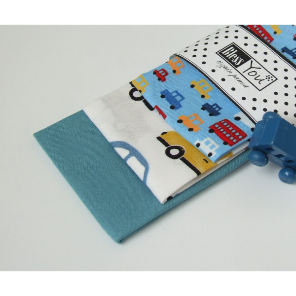 Handkerchiefs cars Bless you, size S, 3 pcs