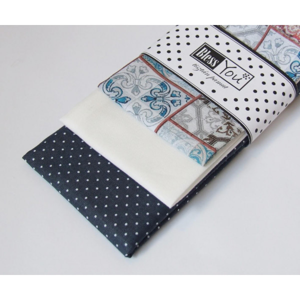 Handkerchiefs cement design Bless you, size S, 3 p...