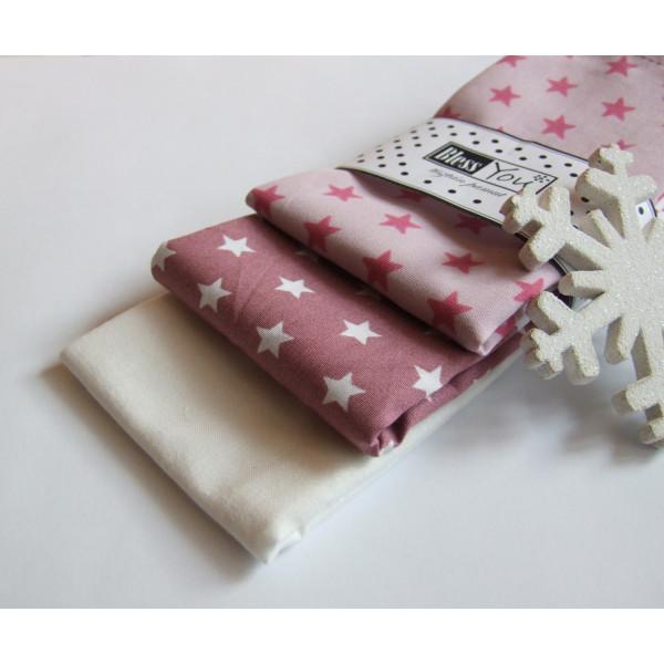 Handkerchiefs stars Bless you, size S, 3 pcs