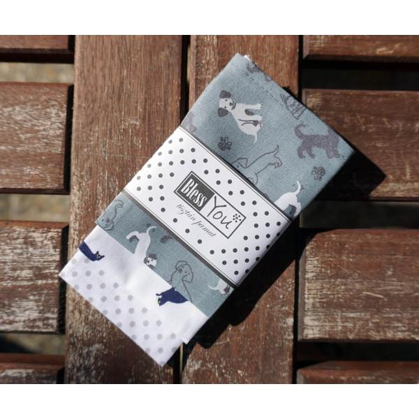 Handkerchiefs little pets Bless you, size S, 3 pcs
