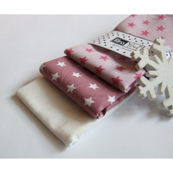 Handkerchiefs mauve stars Bless you, size S, 3 pcs...