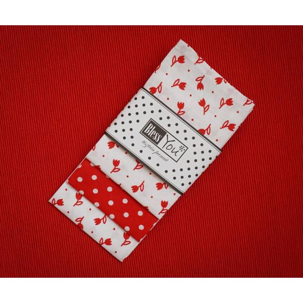 Handkerchiefs folk tulip Bless you, size S, 3 pcs