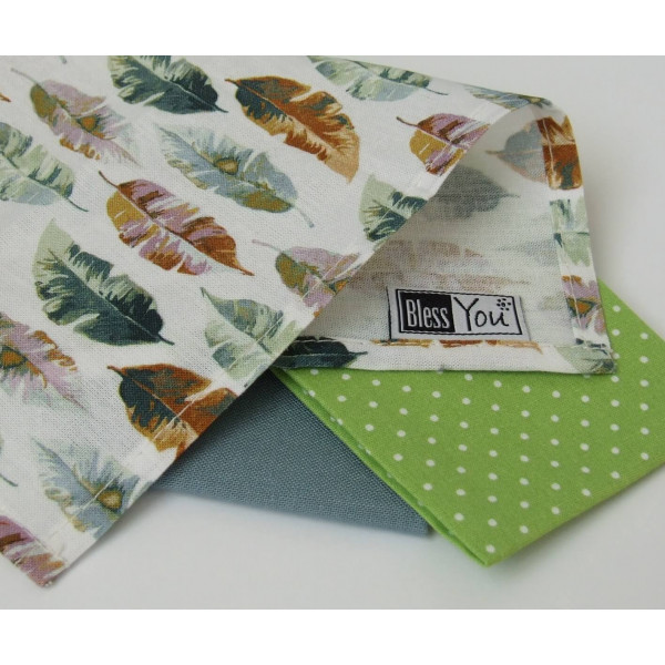 Handkerchiefs bird feathers Bless you, size S, 3 p...