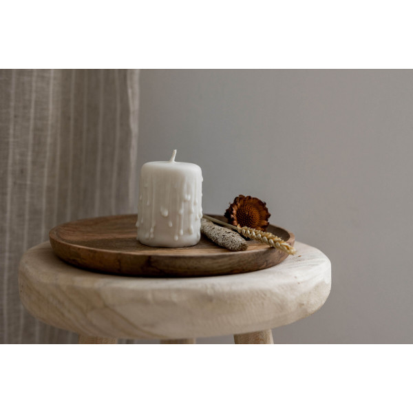 Small rustic eco-candle 2pcs