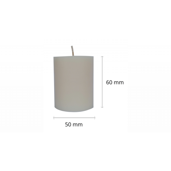 Small cylindrical eco-candle