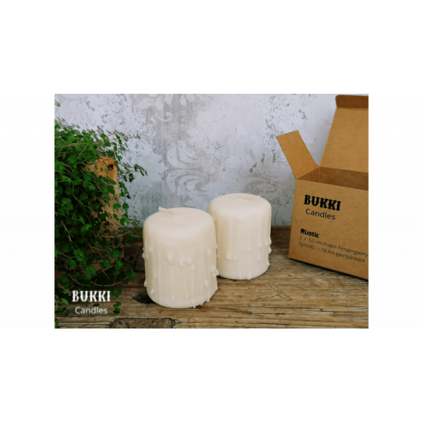 Small rustic eco-candle