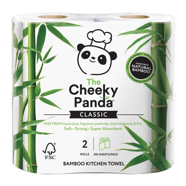 Bamboo Kitchen Towel Rolls (2 rolls, 2ply, 200 she...