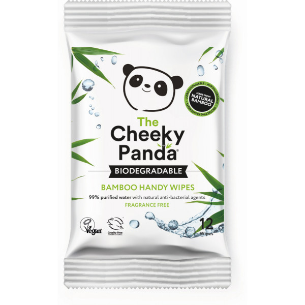 Biodegradable bamboo 12 handy wipes