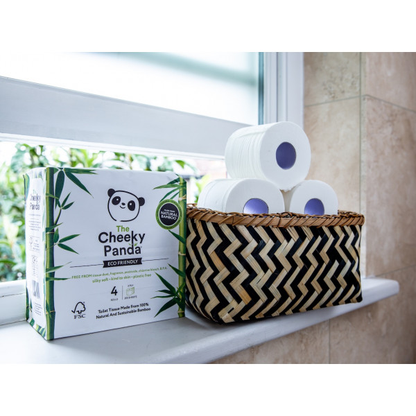 Plastic free toilet Paper 4 rolls (3ply, 200 sheet...