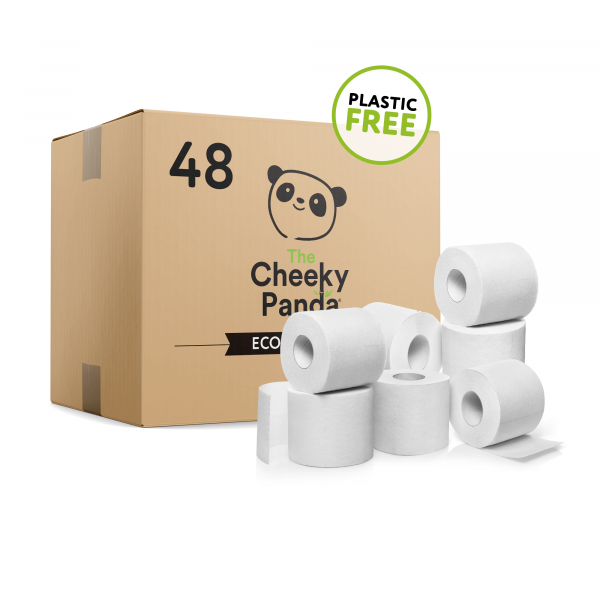 Plastic free toilet Paper 48 rolls (3ply, 200 shee...