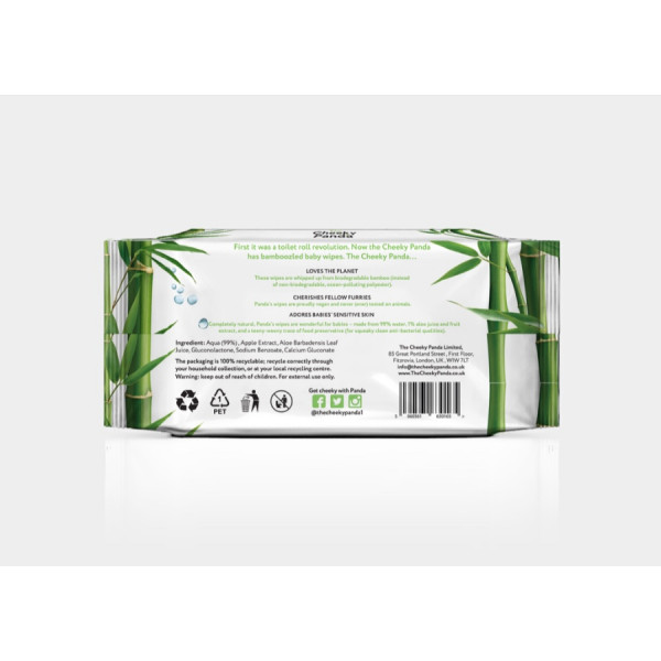 Biodegradable Bamboo 64 Baby Wipes
