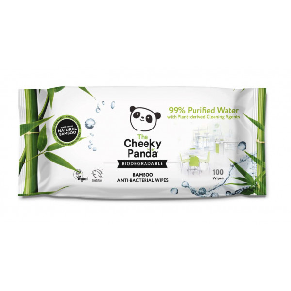 Antibacterial bamboo wipes 100 pcs
