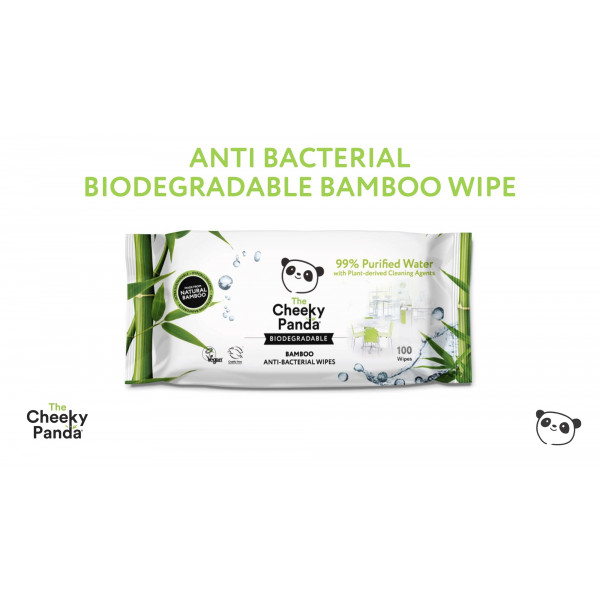 Cheeky Panda Anti-Bacterial Bamboo Multi Surface Wipes 100pcs