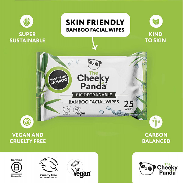 Biodegradable Facial Wipes - scented with natural coconut essential oil