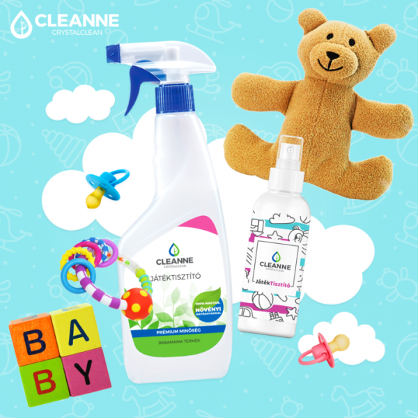 CLEANNE Crystalclean kids toy cleaner - travel size 100 ml