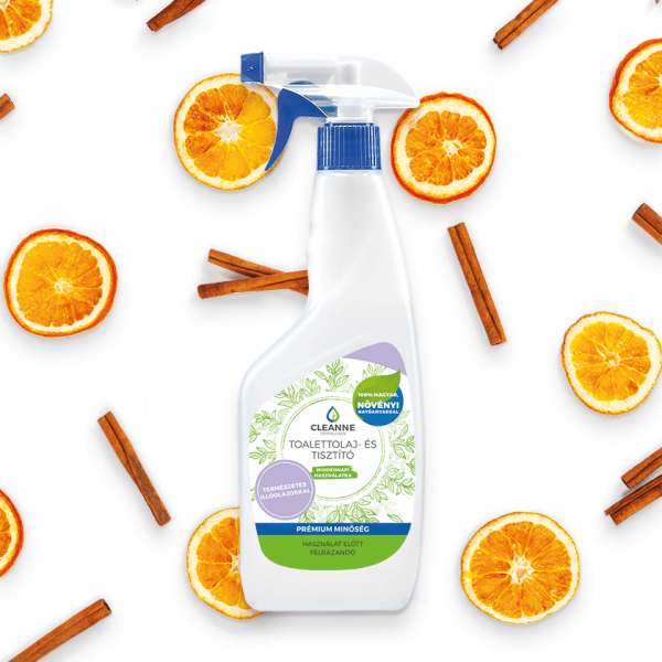 Cleanne toilette oil and cleaner cinnamon orange