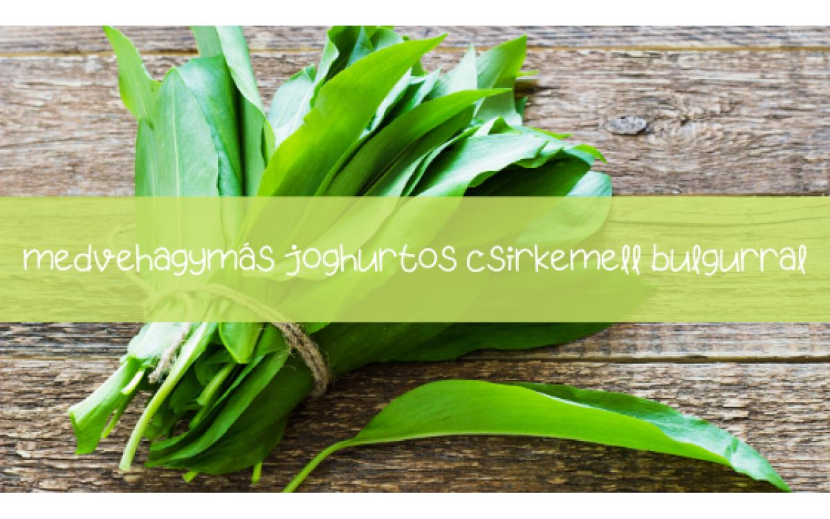 Medvehagymás-joghurtos csirkemell recept bulgur körettel