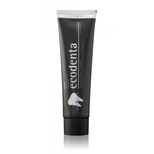 ECODENTA EXTRA Black whitening toothpaste with bla...